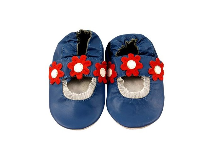 MiniFeet capáčky sandálky sedmikrásky modré
