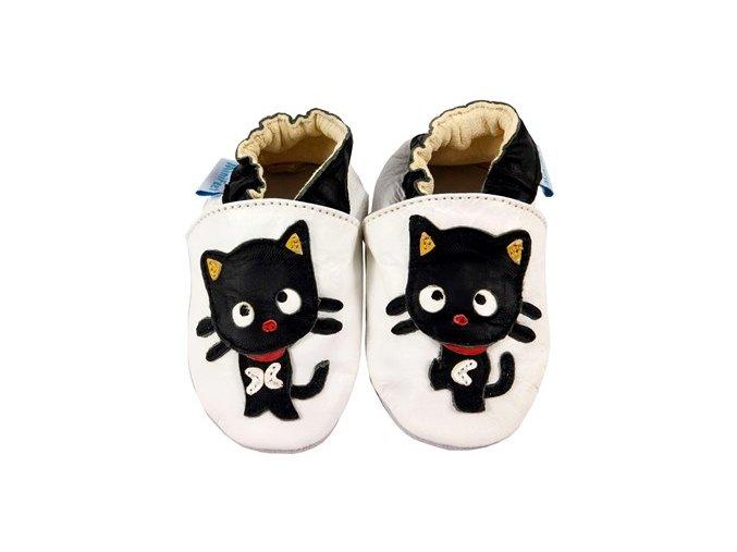 MiniFeet capáčky kočička Meow bílé