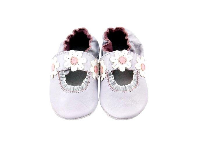 MiniFeet capáčky sandálky sedmikrásky fialové
