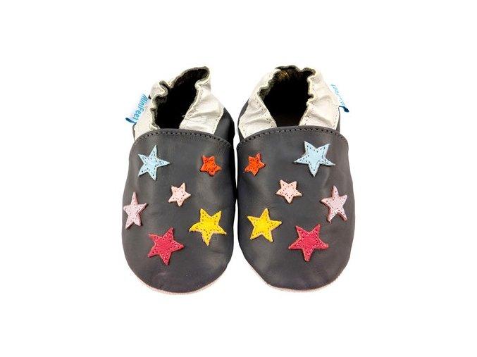 MiniFeet capáčky malé hvězdičky šedé