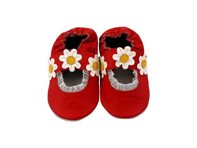 MiniFeet capáčky sandálky sedmikrásky červené