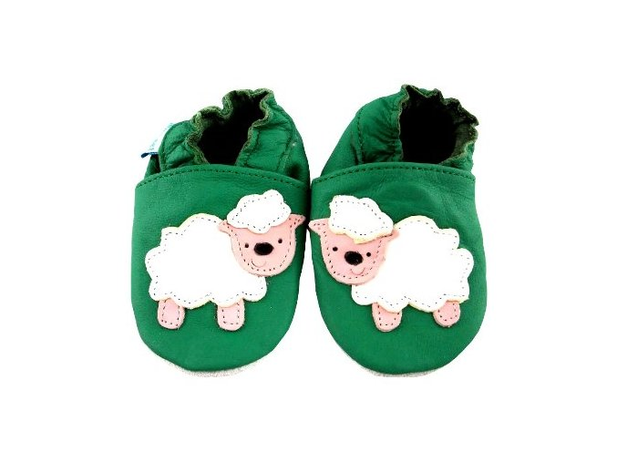 MiniFeet capáčky ovečka Baa Baa zelené