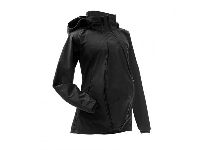 Mamalila softshell těhotenská a nosící bunda pro dva do každého počasí černá