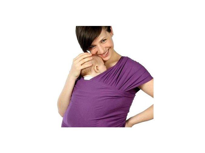 Liliputi elastický šátek fialový