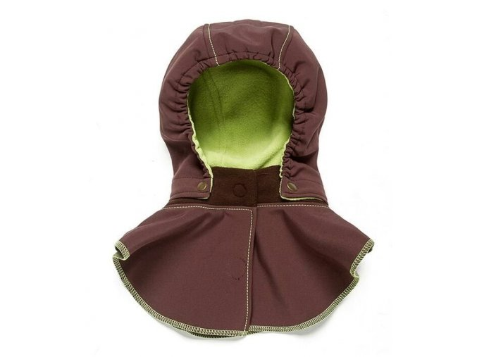Liliputi dětská kapuce ke kabátu hnědá