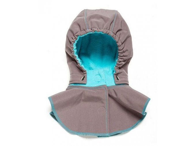 Liliputi dětská kapuce ke kabátu šedá