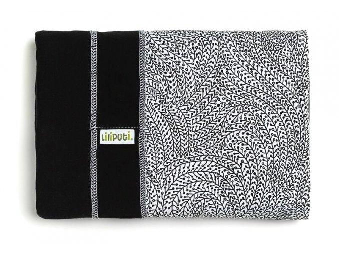 Liliputi elastický šátek s plátnovým středem Orient černý