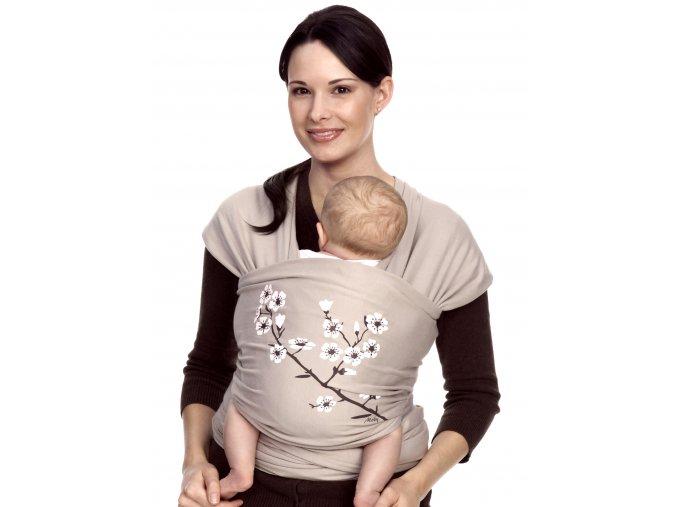 Moby Wrap elastický šátek Design Almond