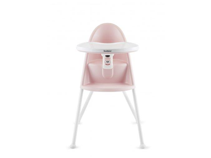 Židle vysoká BabyBjörn s pultíkem Light Pink