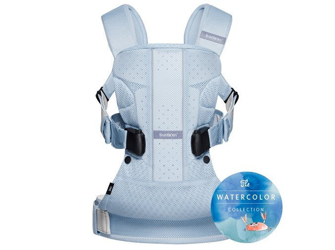 Nosítko Babybjörn One AIR Ice Blue Fish Mesh