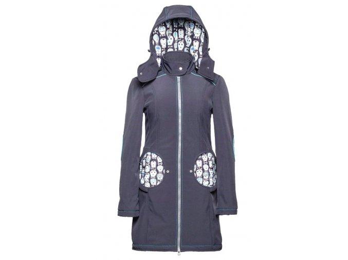 Liliputi kabát 3v1 na nošení dětí Lebky šedý