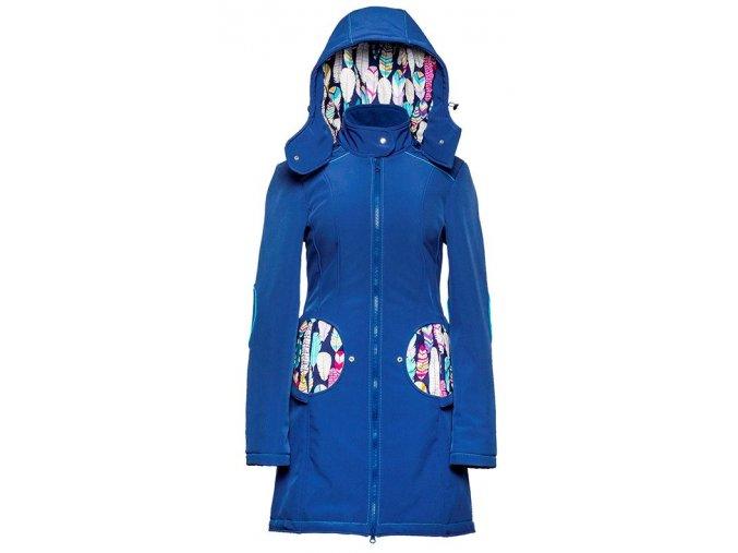 Liliputi kabát 3v1 na nošení dětí Peříčka modrý