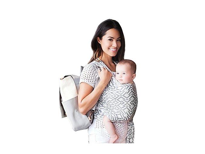 moby wrap designs mazes of milano stone elasticky satek na noseni deti seda bila 2 kopie
