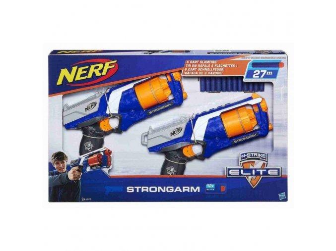 hasbro nerf n strike strongarm pistole s bubnovym zasobnikem duo pack