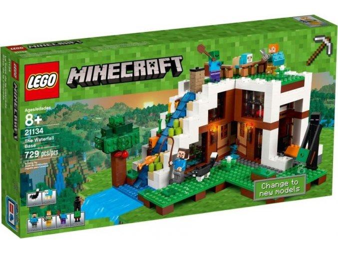 LEGO Minecraft 21134 Základna ve vodopádu