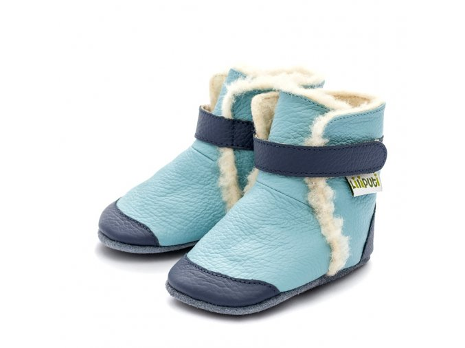 Liliputi zimní capáčky Eskimo modré