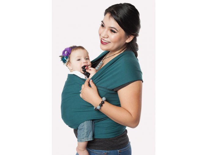 moby wrap classic pacific elasticky satek moby pacific noseni deti zelena