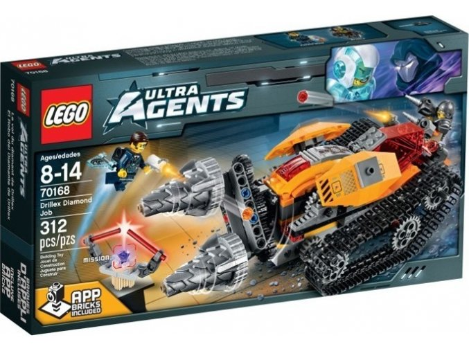 LEGO Ultra Agents 70168 Drillex krade diamant