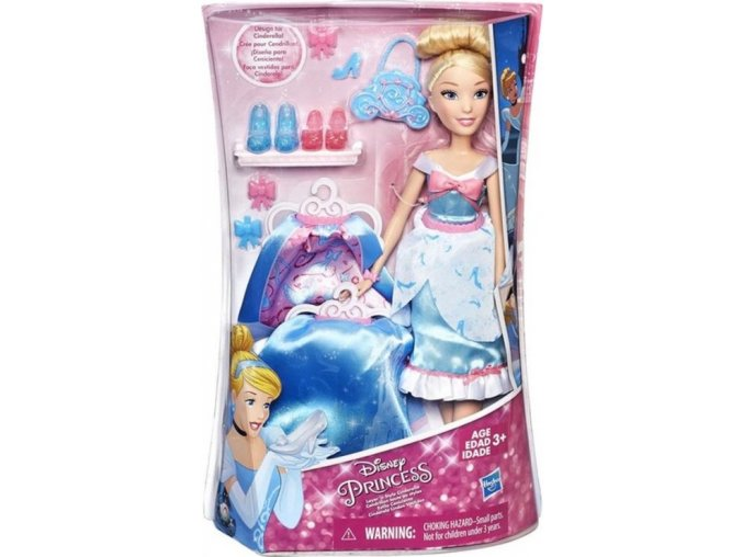 Disney Princess Panenka s náhradními šaty Popelka