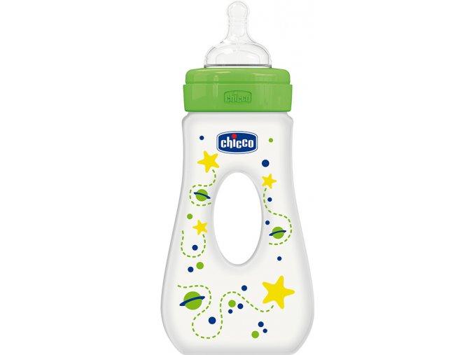 Láhev Well-Being 0% BPA, 240 ml slza, silik., rychlý průtok