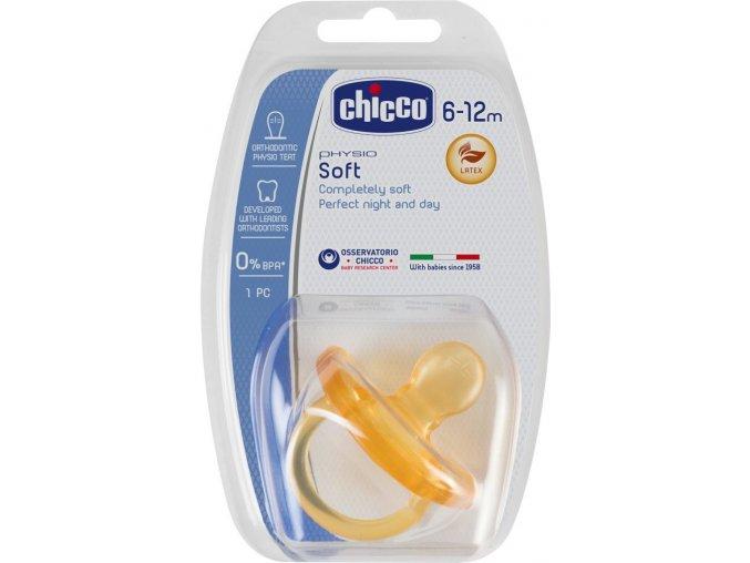 Šidítko Physio Soft celokaučukové, 6-12m+