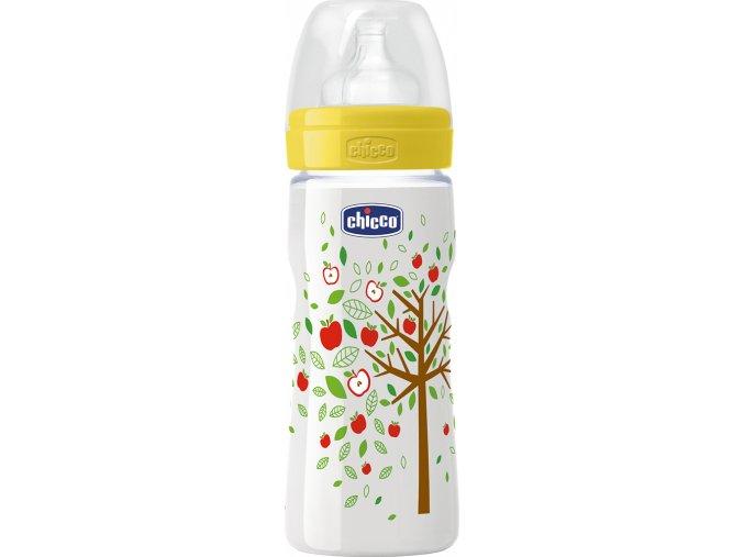 Láhev bez BPA Well-Being silikonový dudlík, rychlý, zelená 330 ml