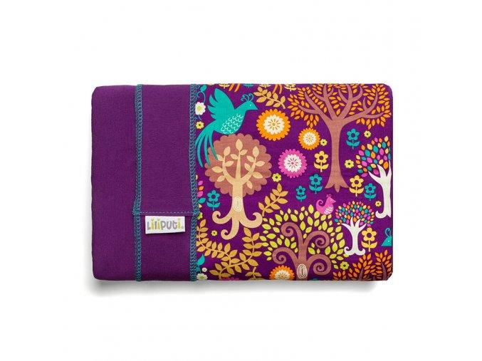 Liliputi elastický šátek s plátnovým středem Magic fialový