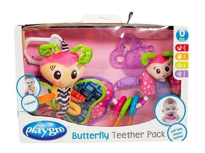 playgro butterfly teether pack