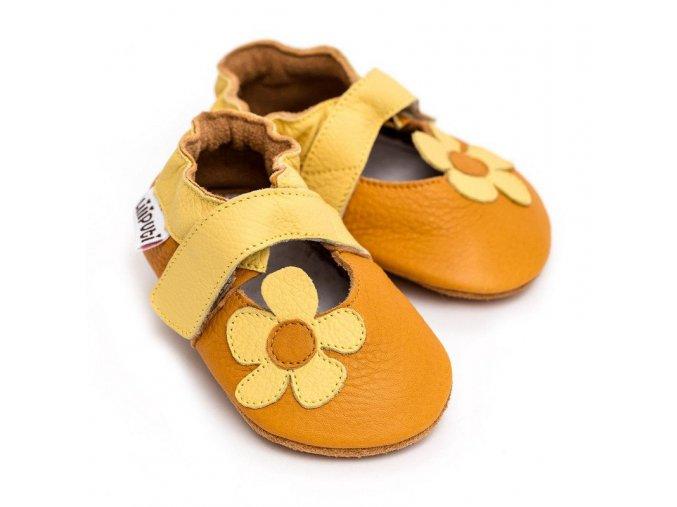 LLPT848 capacky liliputi sandalky liliputi sunflower kozene capacky boty pro deti backurky