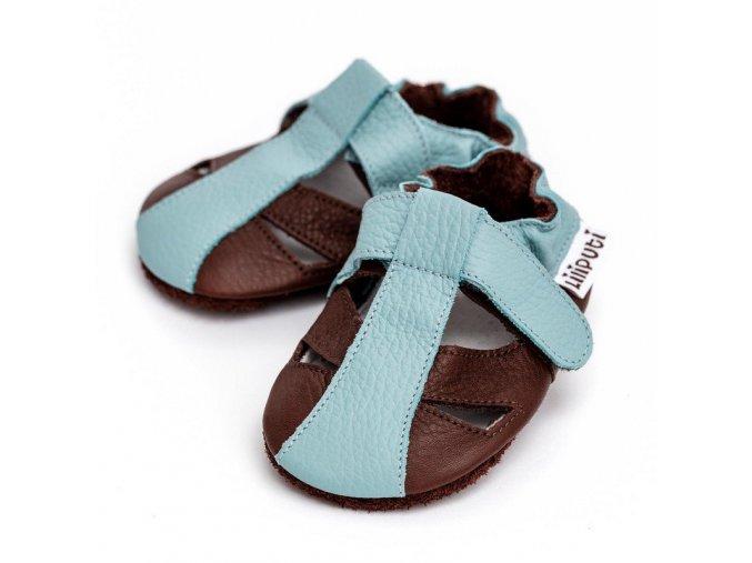 LLPT843 capacky liliputi sandalky liliputi mount blanc kozene capacky boty pro deti backurky