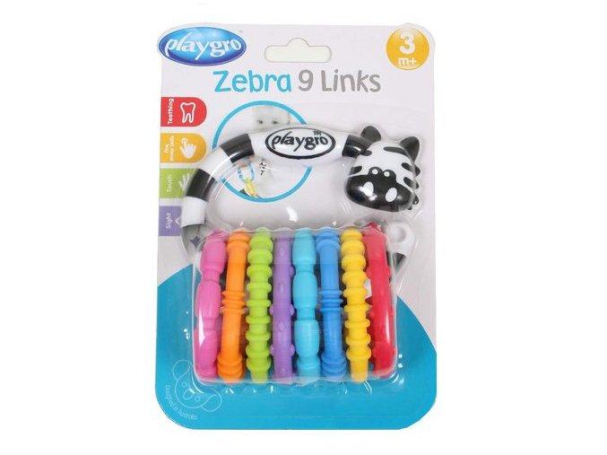 Playgro - Zebra s kroužky nová