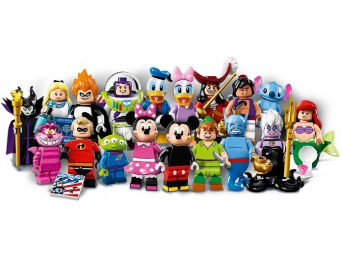LEGO 71012 Kompletní série 18 minifigurek Disney
