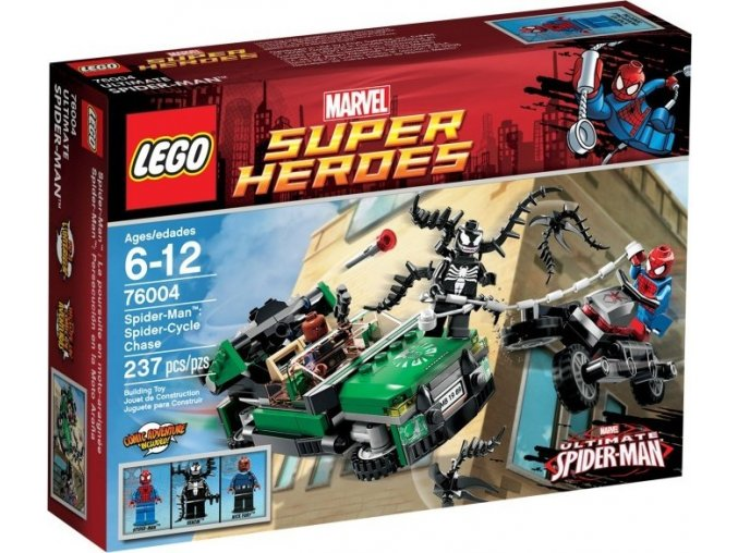 LEGO Super Heroes 76004 Spiderman: Honička na motorce