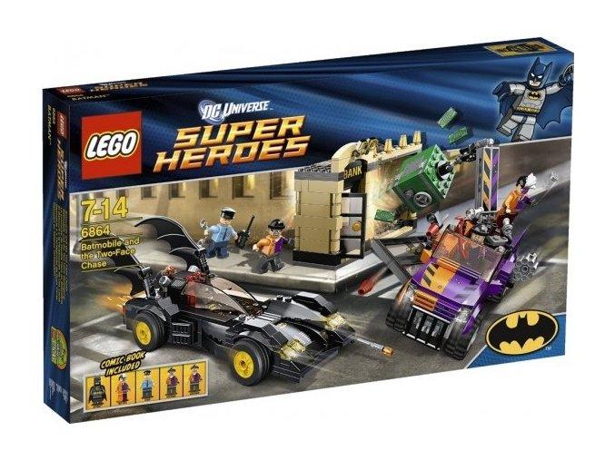 LEGO Super Heroes 6864 Batmobil a honička zločince Two-Face