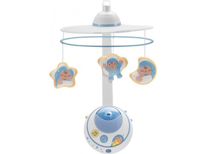 Chicco kolotoč s projektorem hvězdiček - modrý