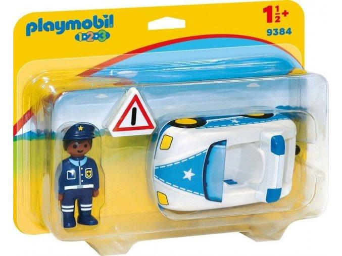 PLAYMOBIL® 9384 Policejní auto s policistou (1.2.3.)