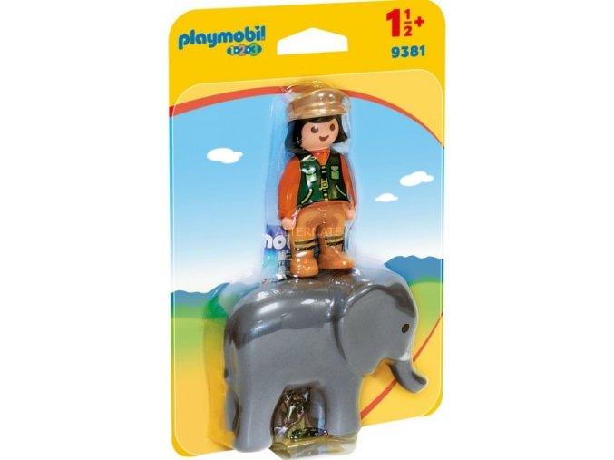 PLAYMOBIL® 9381 Ošetřovatelka slonů (1.2.3.)