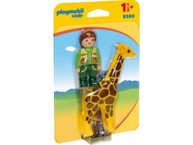 PLAYMOBIL® 9380 Ošetřovatel žiraf (1.2.3.)
