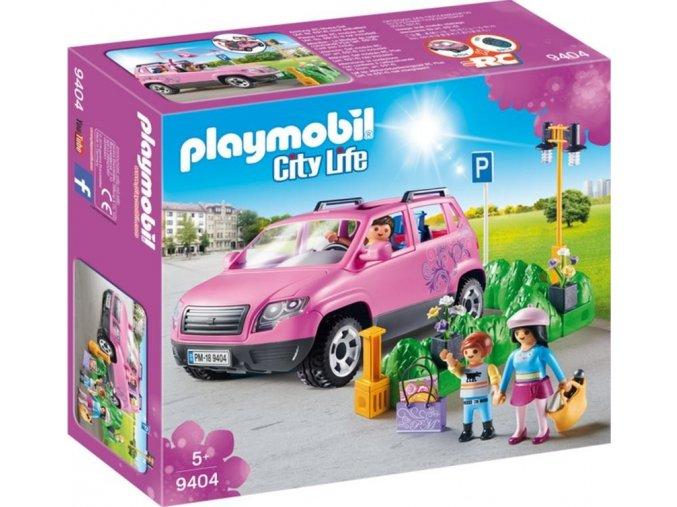 PLAYMOBIL® 9404 Rodinným vozem za nákupy