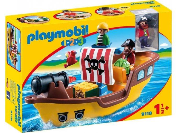 PLAYMOBIL® 9118 Pirátská loď (1.2.3)