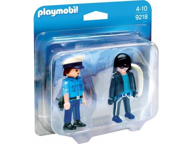 PLAYMOBIL® 9218 Policista a zloděj