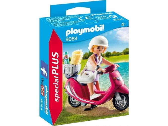 PLAYMOBIL® 9084 Dívka na skútru