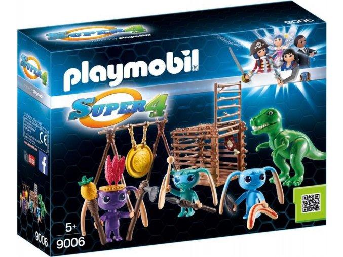 PLAYMOBIL® 9006 Bojovníci Alien s pastí na T-Rexe