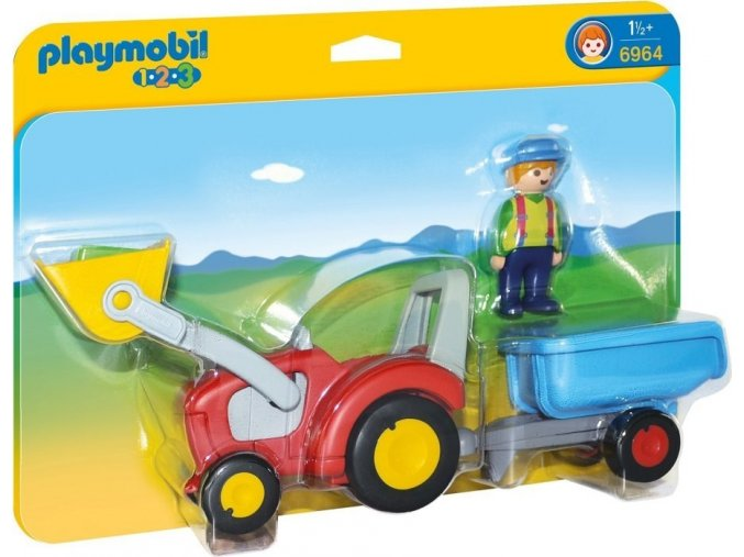PLAYMOBIL® 6964 Traktor s přívěsem (1.2.3)
