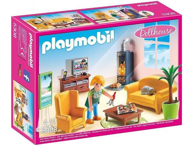 PLAYMOBIL® 5308 Obývací pokoj s krbem