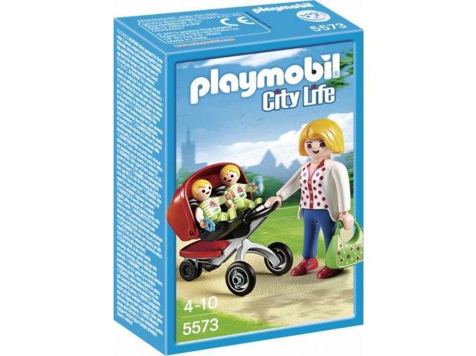 PLAYMOBIL® 5573 Kočárek pro dvojčata