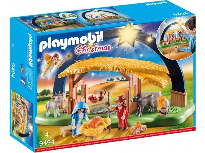 PLAYMOBIL 9494 Betlém se svítícími hvězdami