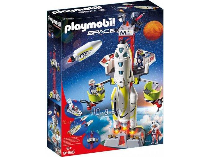 PLAYMOBIL 9488 Raketa na Mars s rampou