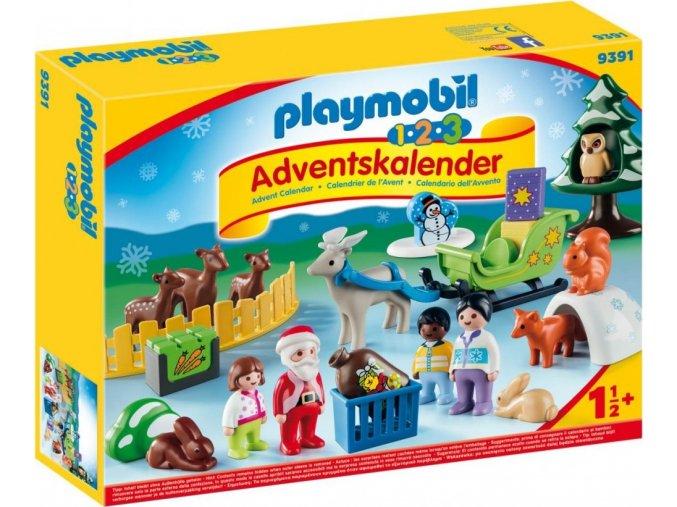PLAYMOBIL® 9391 Adventní kalendář Vánoce v lese (1.2.3)