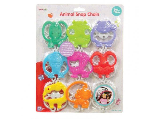 animal snap chain 8 pcs